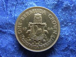 BERMUDA 1 CROWN 1964, KM14 AU - Bermudes