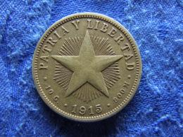 CUBA 40 CENTAVOS 1915, KM14.3 - Cuba