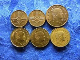 MEXICO 1 CENTAVO 1954, 1955 KM414, 5 CENTAVOS 1955 KM426, 1970, 1972, 1973pecks KM427 (6) - Mexico