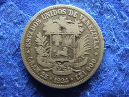 VENEZUELA 5 BALBOAS 1924, KM24.2 - Venezuela