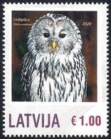 Latvia Lettland Lettonie 2020 - Ural Owl - Personalized Stamp - Funghi