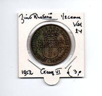 ZUID RHODESIE 1/2 CROWN 1952 GEORG VI - Rhodesia