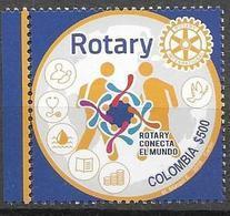 COLOMBIA, 2019, MNH, ROTARY,1v - Rotary, Lions Club