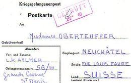 C5 1942  STALAG GRANDE CASERNE DE ST DENIS - Marcophilie (Lettres)