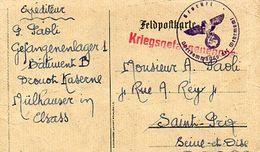 C5 1940 ?  FRONT STALAG DE MULHOUSE CASERNE DROUOT REDIRIGE VERS L ALLEMAGNE - Guerre De 1939-45