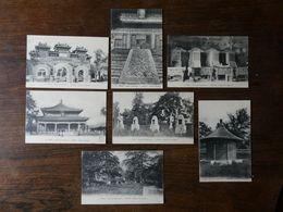 CHINE CHINA 7 Cartes Postales Anciennes Neuves Des Temples De  PEKIN - China