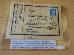 Päckchen Aufkleber  Rgts.StabMarine - Art-Rgt.21 Von  1941 - Documenten
