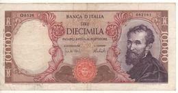 ITALY  10'000  Lire   (Banca D'Italia   Michelangelo  15-02-1973  Carli-Barbarito) - 10000 Liras