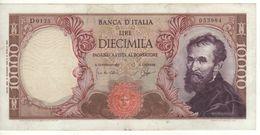 ITALY  10'000  Lire   (Banca D'Italia   Michelangelo  14-01-1964  Carli-Ripa) - 10000 Liras