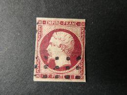 FRANCE  1 Franc Carmin Napoléon III N°18 , Deuxième Choix Avec Petits Défauts Voir Scans - 1853-1860 Napoleon III