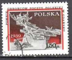 Poland 1979 - Postal Workers Monument - Mi 2645 - Used - 1944-.... Republic