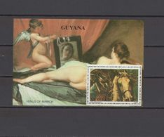 Guyana 1990 Paintings Velazquez / Rubens S/s MNH - Nudes