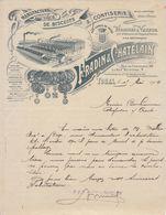 Indre Et Loire, Tours, Manufacture De Biscuits Et Confiserie Fradin & Chatelain 1909 - Levensmiddelen