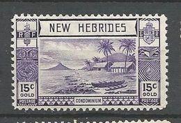 NOUVELLES-HEBRIDES N° 114 NEUF* TRACE DE CHARNIERE /  MH - English Legend