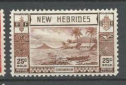 NOUVELLES-HEBRIDES N° 116 NEUF* TRACE DE CHARNIERE /  MH - English Legend