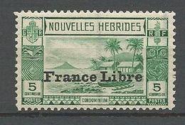 NOUVELLES-HEBRIDES N° 124 NEUF* INFIME TRACE DE CHARNIERE /  MH - English Legend