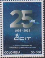 COLOMBIA, 2019, MNH, TELECOMMUNICATIONS, INFORMATION TECHNOLOGY, CCIT,1v - Telecom