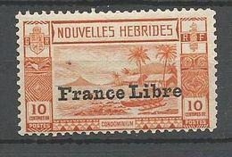 NOUVELLES-HEBRIDES N° 125 NEUF* INFIME TRACE DE CHARNIERE /  MH - English Legend