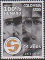 COLOMBIA, 2019, MNH, SOLIDARITY, HUMAN RIGHTS,1v - Telecom