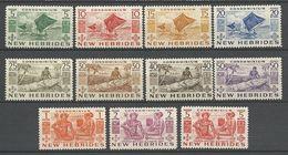 NOUVELLES-HEBRIDES N° 155 à 165 NEUF* TRACE DE CHARNIERE , N° 165**/  MH - English Legend