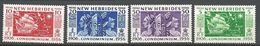 NOUVELLES-HEBRIDES N° 171 à 174 NEUF** SANS CHARNIERE   / MNH - English Legend