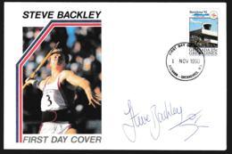 Grenada & Grenadines FDC 1992 Barcelona Olympic Games W/signature Of Steve Backley (British Javelin Thrower) - Sommer 1992: Barcelone