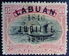 Borneo 1896 Bateau Boat Surchargé Overprinted LABUAN JUBILEE 1846 Yvert 70 * MH - Nordborneo (...-1963)