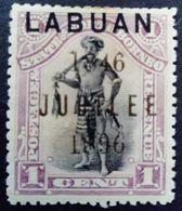 Borneo 1896 Chef Chief Surchargé Overprinted LABUAN JUBILEE 1846 Yvert 65 * MH - Bornéo Du Nord (...-1963)