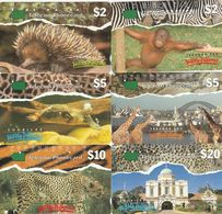Australia, T5C1 - T5C6, Set Of 6 Cards, Trial Cards - National States Series, ZOO, 2 Scans. - Australie