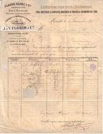 BOUCHES DU RHÔNE - CLAUDE CLERC & CIE - NAVIGATION A VAPEUR , ITALIE , LEVANT , MER NOIRE - J. & V. FLORIO & CIE - 1877 - France