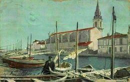 France Les Martigues Eglise De Jonquenere Canal De Roi Harbour Boats Postcard - France