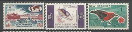 NOUVELLES-HEBRIDES N° 242 à 244 NEUF** LUXE SANS CHARNIERE   / MNH - English Legend
