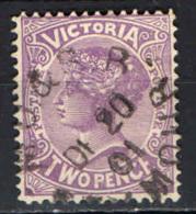 VICTORIA - 1901 - EFFIGIE DELLA REGINA VITTORIA - TWO PENCE - USATO - Gebruikt