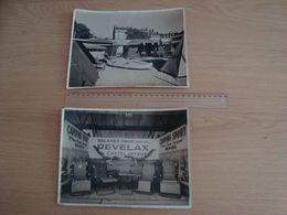 LOT DE 2 PHOTOS MATERIELS DE CAMPING REVELAX CASTEL JOYEUX PHOTO JEAN BARS STUDIO LOUIS RENNES - Objetos