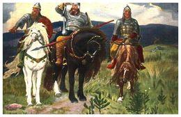 Lapina 455 - V M Vasnetzoff, Ancien Guerriers Russes (3 Lignes) Brun - Pittura & Quadri