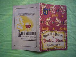 Catalogue Vente De Vins Des Hospices De Beaune 1950 32 Pages - Reclame