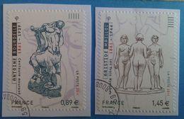 France 2011 : Sculpture D'Antoine Bourdelle Et D'Aritide Maillol N° 633 à 634 Oblitéré - France