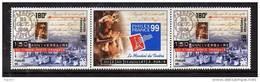 Polynésie N° 602A  XX  150ème Anniversaire Du Timbre Poste Français,  La Paire Avec Vignette Centale Sans Charnière TB - Non Classés