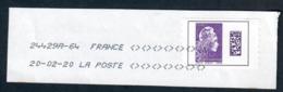 YT AA1656-2 Marianne De L'engagee International Violet-fragment - 2018-... Marianne L'Engagée