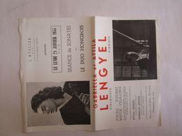 Petite Affiche Dans L'état Gabriella Gabrille Lengyel Et Attila Violoniste Bruxelles Musique Duo Hongrois Hongrie - Music & Instruments