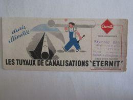 Buvards Buvard Les Tuyaux De Canalisations Eternit Prouvy Thiant - Vloeipapier