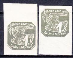 Boheme Et Moravie 1939 Mi 50 (Yv TPJ 9), (MNH)**, 2x Bdf - Bohemia & Moravia