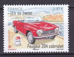 FRANCE 2020 Voitures Car Peugeot 204 Cabriolet Fête Du Timbre MNH ** - Coches