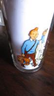TINTIN VERRE TINTIN SALUT AVEC MILOU   HERGE - Tintin