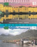 Australia, T9C1-1 - T9C2-2, Trial Cards - National States Series, Tasmania, Cradle Mountains, Uluru, 2 Scans. - Australie