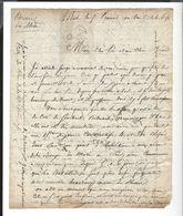 ARMEE DU RHIN  Lettre Militaire Service De Santé Bâle 7 Prairial An 8 - ( Bonaparte  - Gal Montuy - )  4 P. - Vieux Papiers