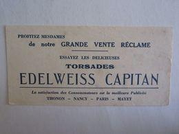 Buvards Buvard Edelweiss Capitan Thonon Nancy Paris Mayet - Vloeipapier