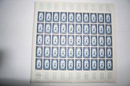 FRANCE 1959 FEUILLE ENTIERE 1224 POUR VAINCRE LA POLIOMYELITE FEUILLE COMPLETE - Ganze Bögen