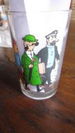 TINTIN VERRE TINTIN HADDOCK TOURNESOL  ET LES DUPONDT HERGE - Tintin