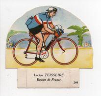 - CHROMO LE PETIT GROSJEAN ET LA VACHE SÉRIEUSE - Série CYCLISME - Lucien TEISSEIRE N° 248 - - Cromo